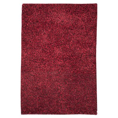 Caddigan Hand-Woven Red Area Rug Rug Size: Rectangle 93 x 13