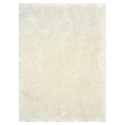 Cozy Hand-Tufted Ivory Area Rug Rug Size: Rectangle 5 x 76