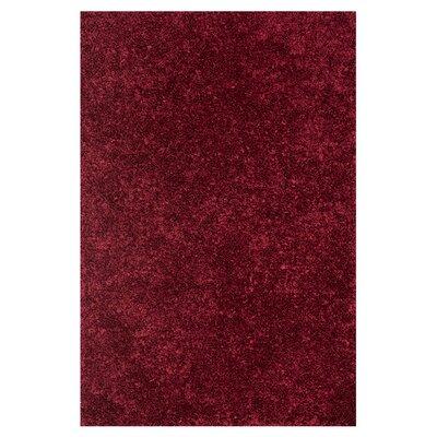 Selma Shag Hand-Woven Crimson Area Rug Rug Size: 5 x 76