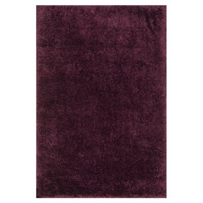 Cozy Hand-Tufted Purple Area Rug Rug Size: Rectangle 5 x 76