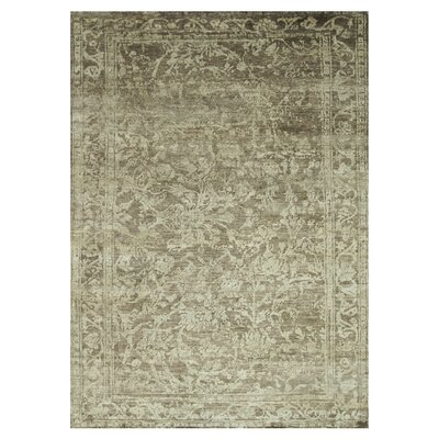 Leffel Hand-Knotted Pinecone Area Rug Rug Size: Rectangle 56 x 86