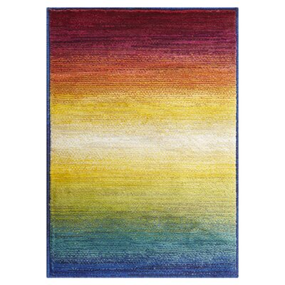 Lyon Red/Yellow Area Rug Rug Size: 2 x 3