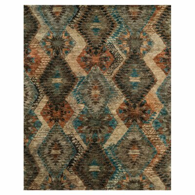 Zakrzewski Hand-Knotted Beige/Gray Area Rug Rug Size: Rectangle 96 x 136