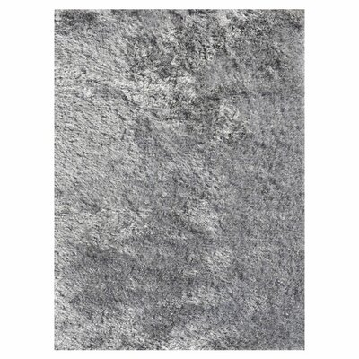 Vida Hand-Woven Silver Area Rug Rug Size: Rectangle 76 x 96