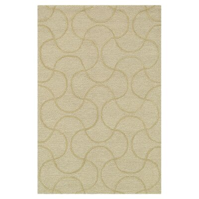 Circa Hand-Tufted Beige Cream Area Rug Rug Size: 5 x 76