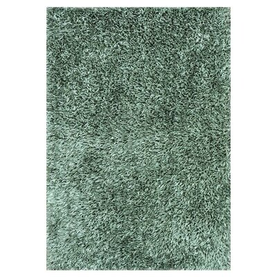 Carrera Shag Hand-Tufted Sea Foam Area Rug Rug Size: 79 x 99