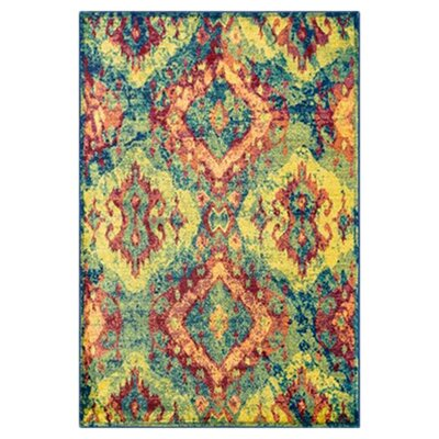 Madeline Blue/Yellow Area Rug Rug Size: Rectangle 2 x 3