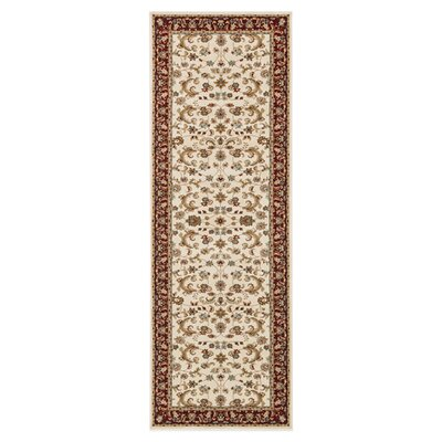 Welbourne Ivory/Red Area Rug Rug Size: Runner 2'8