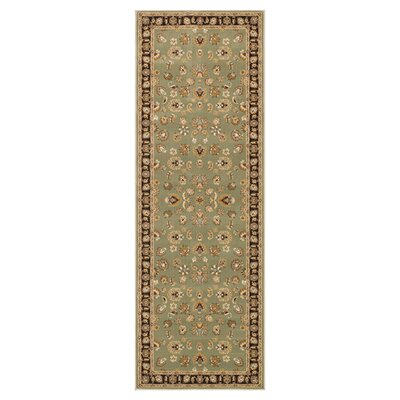 Welbourne Sage/Coffee Area Rug Rug Size: Runner 28 x 77