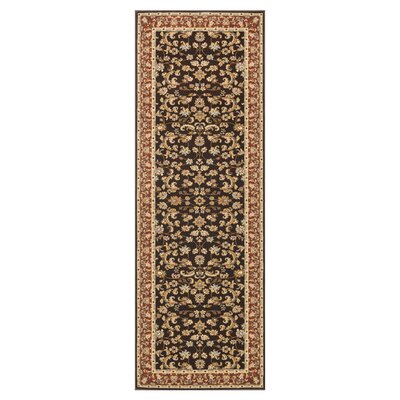 Welbourne Coffee/Paprika Area Rug Rug Size: Runner 28 x 77