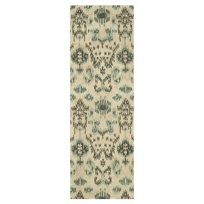 Leyda Hand-Tufted Cream/Gray Area Rug Rug Size: Runner 26 x 76