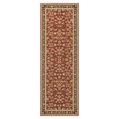 Welbourne Paprika/Coffee Area Rug Rug Size: Runner 28 x 77