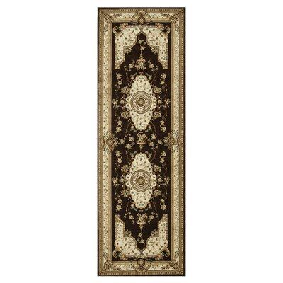 Welbourne Coffee/Ivory Area Rug Rug Size: Runner 28 x 77