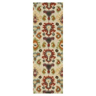 Leyda Hand-Tufted Beige Area Rug Rug Size: Runner 26 x 76