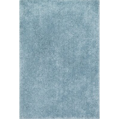 Cozy Shag Hand-Tufted Light Blue Area Rug Rug Size: 36 x 56