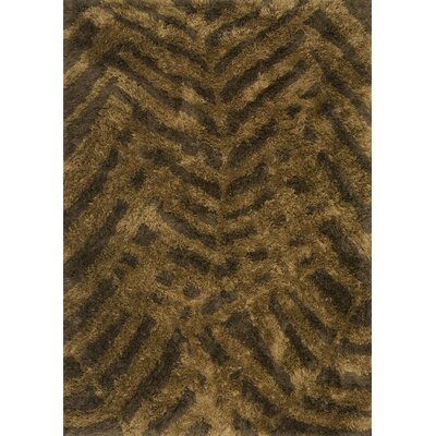 Garden Shag Hand-Tufted Brown Indoor/Outdoor Area Rug Rug Size: Round 710