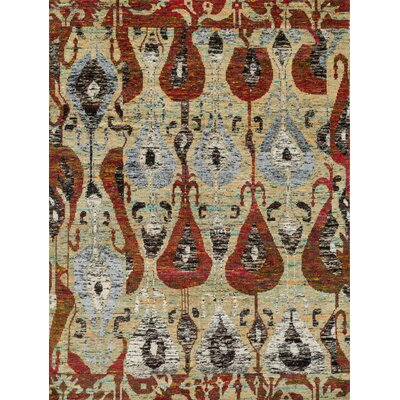 Zaleski Hand-Knotted Beige Area Rug Rug Size: Rectangle 79 x 99