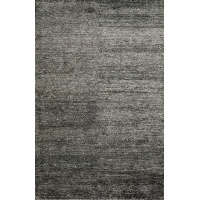 Byron Hand-Knotted Black/Gray Area Rug Rug Size: Rectangle 86 x 116