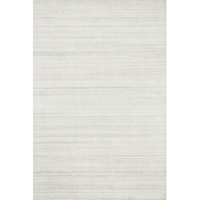 Bedenbaugh Hand-Loomed Ivory Area Rug Rug Size: Rectangle 36 x 56