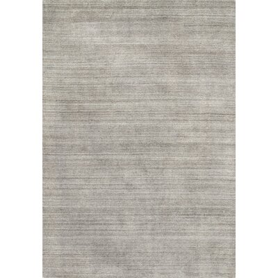 Nugent Hand-Woven Mocha Area Rug Rug Size: Rectangle 36 x 56