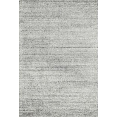 Nugent Hand-Woven Silver Area Rug Rug Size: Rectangle 7'6