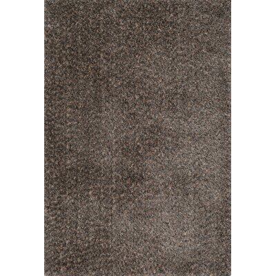 Callie Shag Hand-Tufted Dark Brown Area Rug Rug Size: 23 x 39