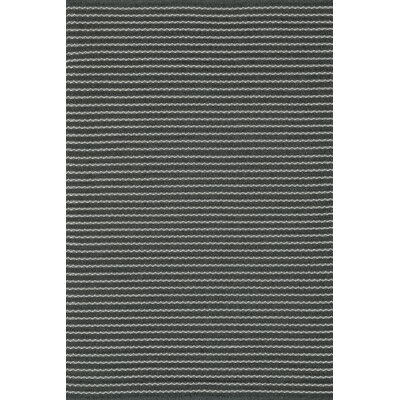 Terra Hand-Woven Charcoal Indoor/Outdoor Area Rug Rug Size: 3'6