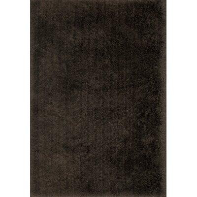 Allure Shag Hand-Tufted Chocolate Area Rug Rug Size: Rectangle 36 x 56