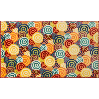 Isabelle Yellow/Blue Area Rug Rug Size: Rectangle 22 x 39