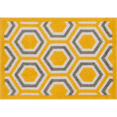 Laudenslager Yellow Area Rug Rug Size: Rectangle 18 x 5