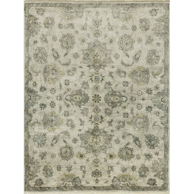 Kehoe Hand-Woven Gray Area Rug Rug Size: Rectangle 12 x 15