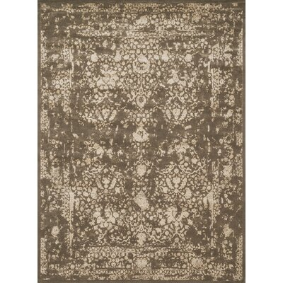 Durdham Park Dark Taupe/Ivory Area Rug Rug Size: Rectangle 76 x 105