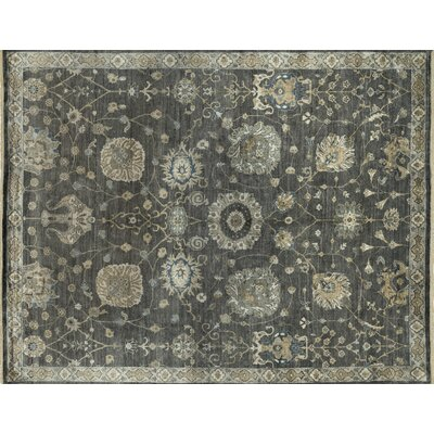Kensington Hand-Knotted Gray Area Rug Rug Size: Rectangle 56 x 86