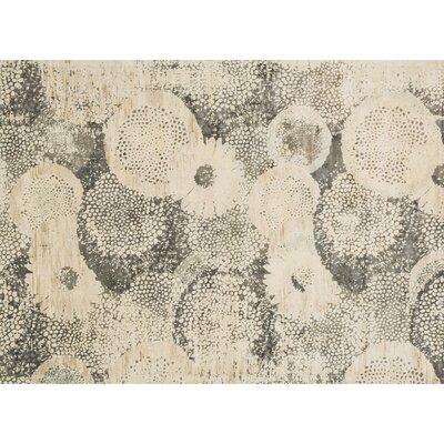 Journey Ivory/Smoke Area Rug Rug Size: 76 x 105
