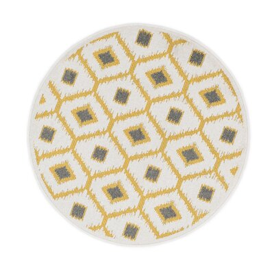 Terrace Citron/Ivory Area Rug Rug Size: Rectangle 18 x 5
