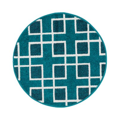 Terrace Blue Area Rug Rug Size: 18 x 5
