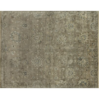 Kensington Hand-Knotted Beige Area Rug Rug Size: Rectangle 56 x 86