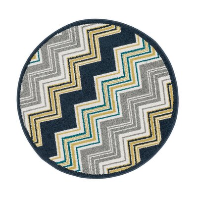 Terrace Navy/Gray Area Rug Rug Size: Rectangle 18 x 5
