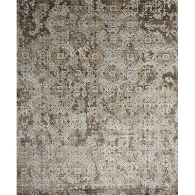 Leffel Hand-Knotted Brown Area Rug