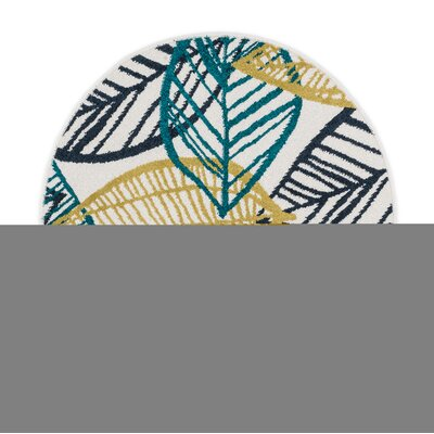 Laudenslager Green/Yellow Area Rug Rug Size: Round 3