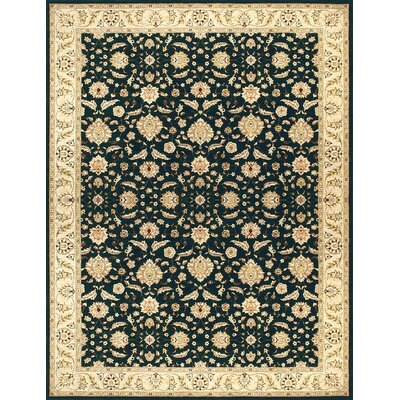 Stanley Hand-Woven Black/Tan Area Rug Rug Size: 98 x 128