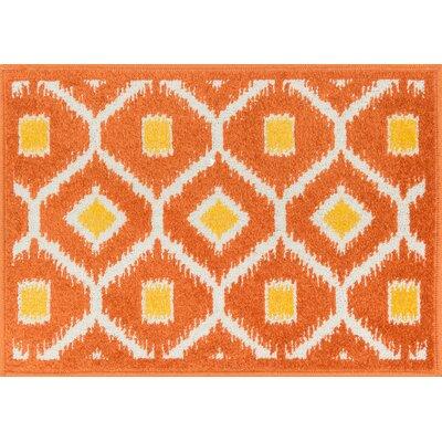 Terrace Orange/Lemon Area Rug Rug Size: 18 x 5