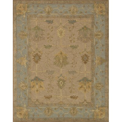 Walden Hand-Hooked Blue/Brown Area Rug Rug Size: 79 x 99