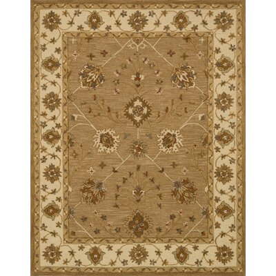 Walden Hand-Hooked Brown Area Rug Rug Size: 93 x 13