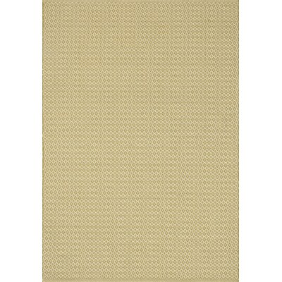 Kirchoff Hand-Woven Gold Indoor/Outdoor Area Rug Rug Size: Rectangle 93 x 13