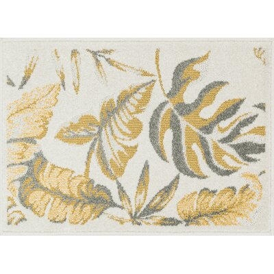Laudenslager Beige/Ivory Area Rug Rug Size: Rectangle 18 x 5