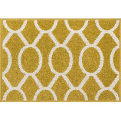 Terrace Citron/Ivory Area Rug Rug Size: 18 x 5