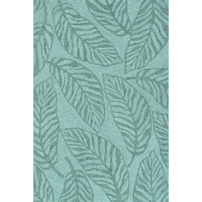 Tropez Hand-Hooked Blue Indoor/Outdoor Area Rug Rug Size: 36 x 56