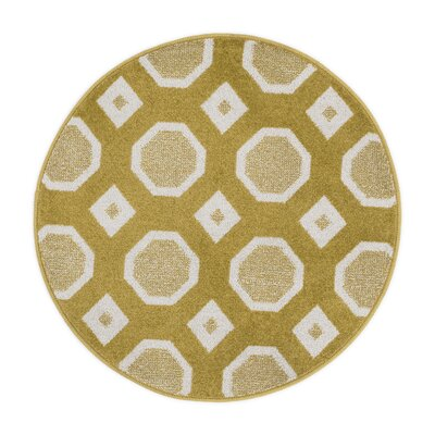Laudenslager Citron/Ivory Area Rug Rug Size: Rectangle 18 x 5
