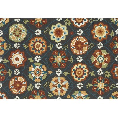 Summerton Hand-Hooked Coffee Spice Area Rug Rug Size: 23 x 39